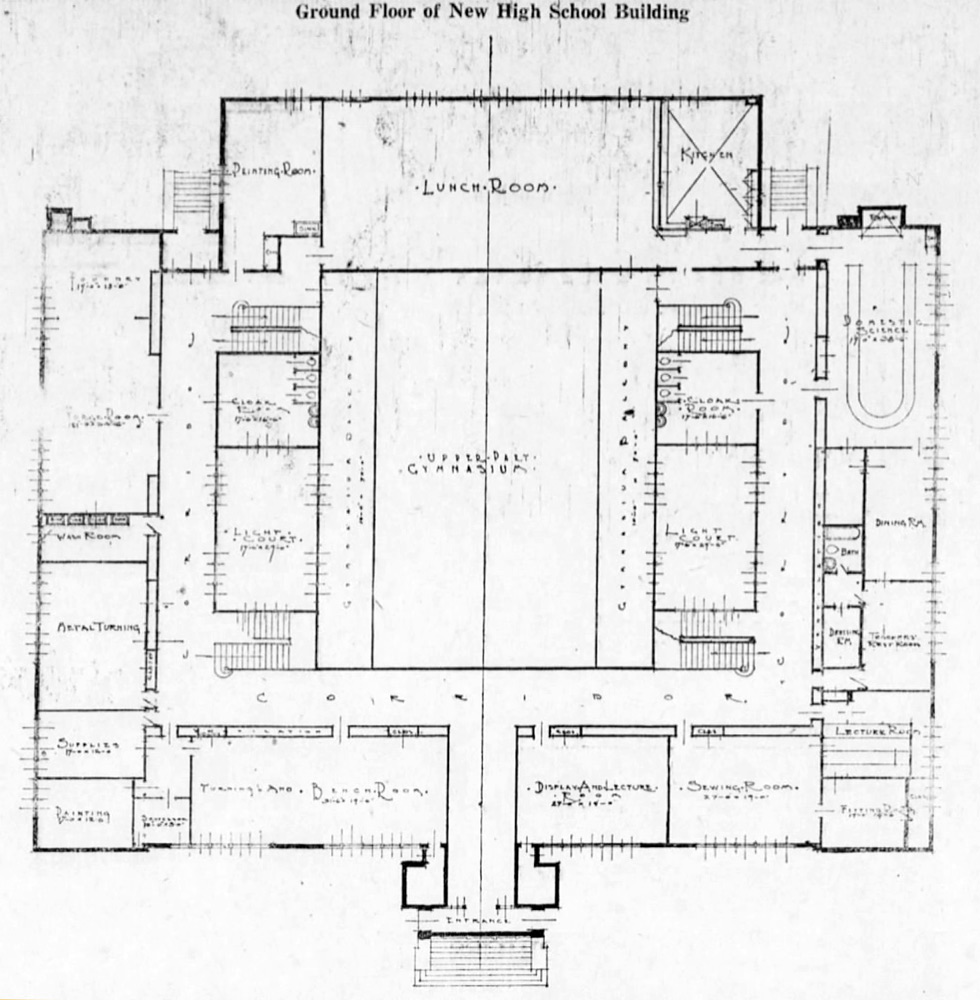 Phs ground floor plan newspaper photo 1920